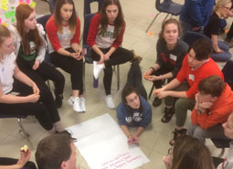 Secondary students collaborate on ideas for inclusivity awareness